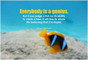 Everybody is a genius.