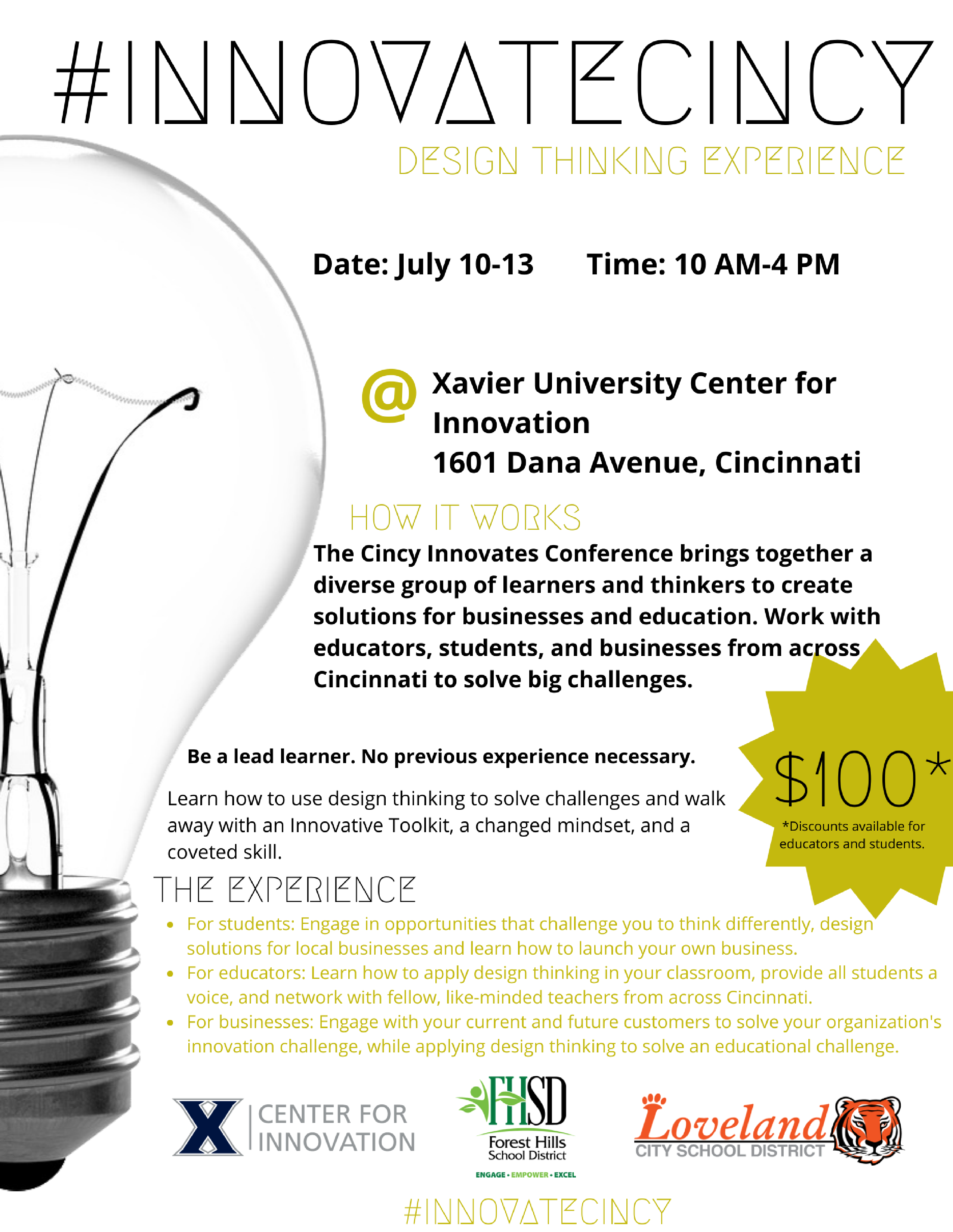 #InnovateCincy Flyer
